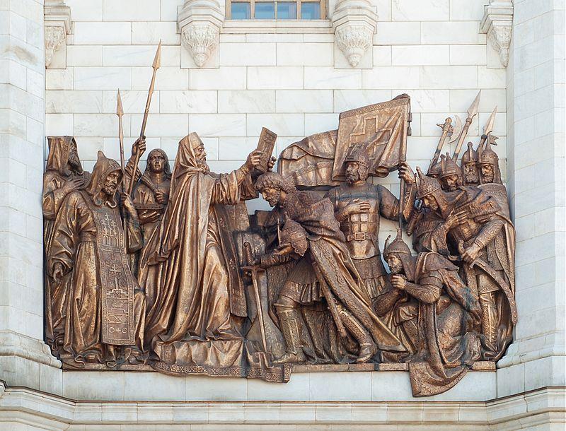 Скульптура в Москве - Благословение Сергия Радонежского