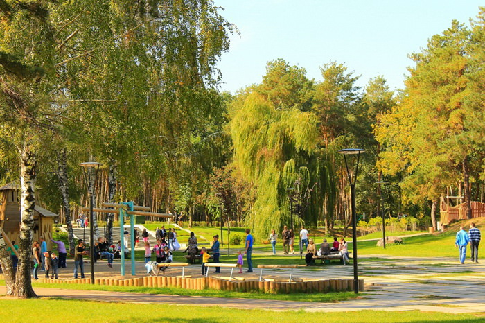 Летом в парке